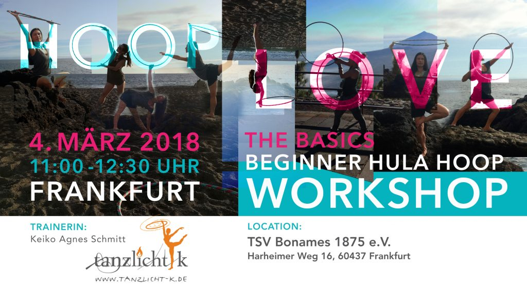 Hula Hoop Yoga und Hula Hoop Workshop für Anfänger in Frankfurt am Main