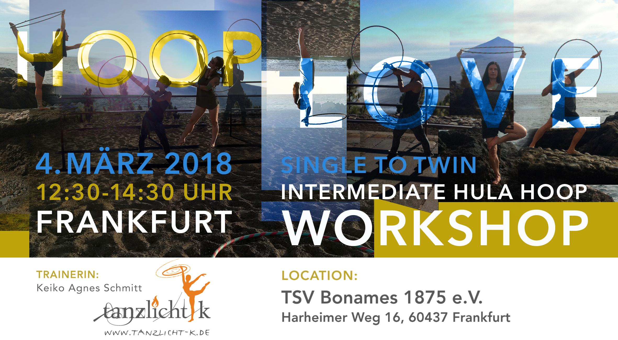 Hula Hoop Yoga und Hula Hoop Workshop für Fortgeschrittene in Frankfurt am Main